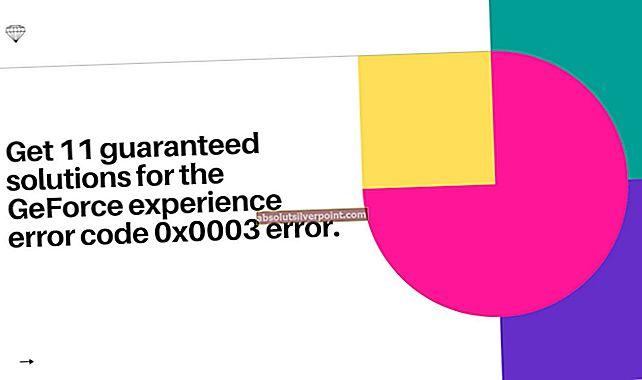 Oprava: Kód chyby Geforce Experience 0x0003