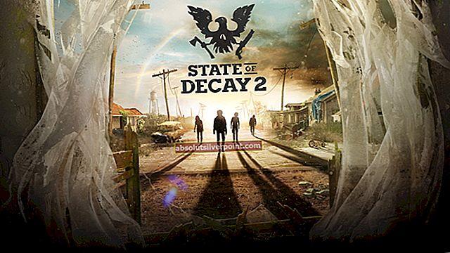 Korjaus: State of Decay 2 Crash käynnistettäessä