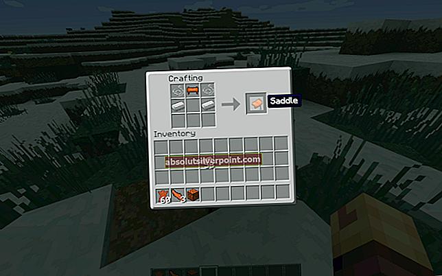Sådan laver du en sadel i Minecraft