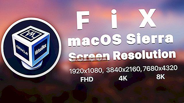 Sådan repareres en skærmopløsning, der vender tilbage til 640 × 480