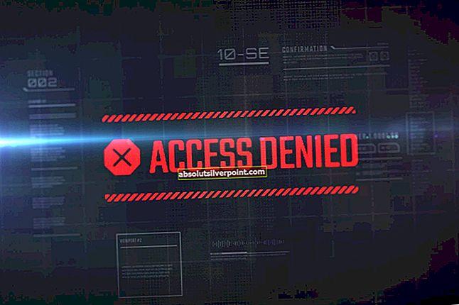 Fix: Fejl 1005 'Adgang nægtet'