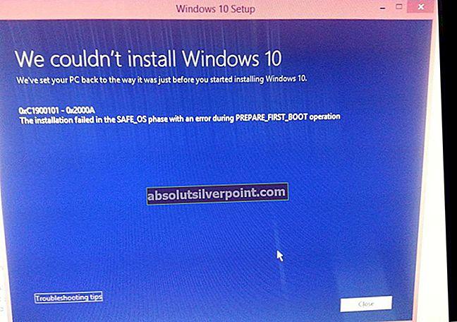 Fix: Windows 10-feil C1900101 - 0x20017