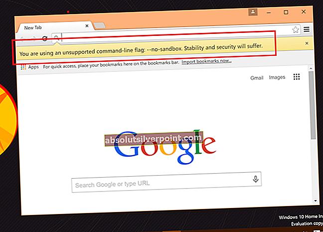 Fix: Google Chrome går ned på Windows 10