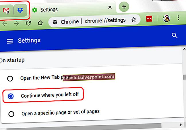 Επιδιόρθωση: Το πρόγραμμα περιήγησης Chrome ανοίγει δύο καρτέλες