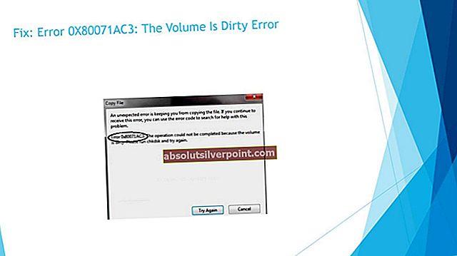 Sådan rettes fejl 0X80071AC3 'Volumenet er beskidt'
