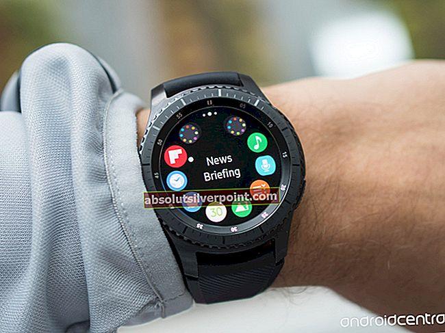 Sådan forhindres, at batteriet tømmes på Samsung Gear Smart ure