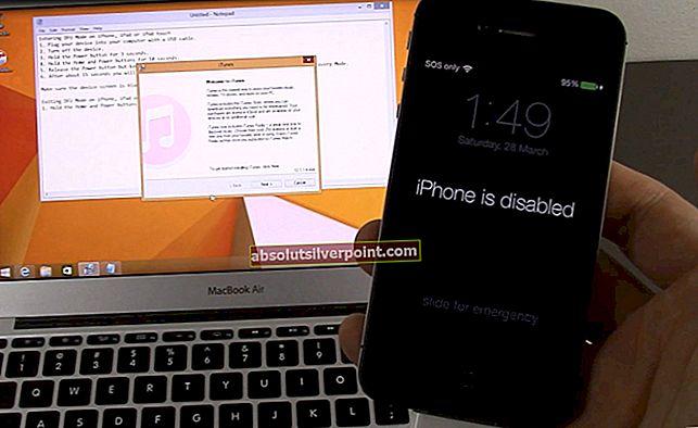 Fix: iTunes kunne ikke sikkerhedskopiere iPhone, fordi iPhone afbrudt
