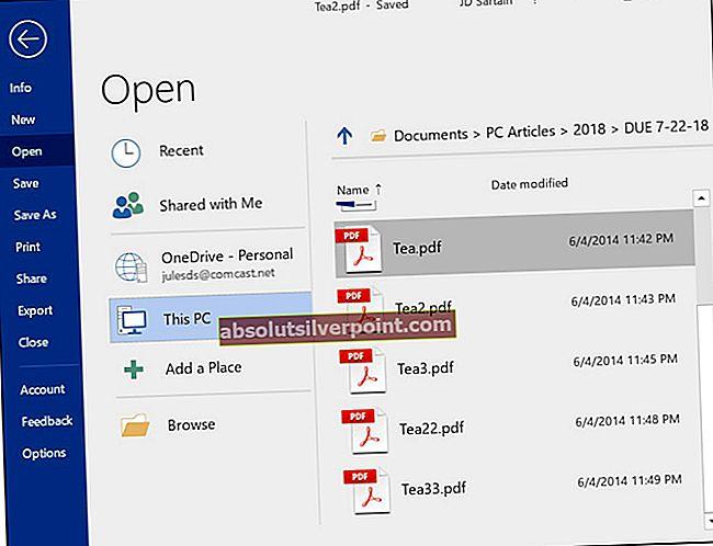 Sådan åbnes en PDF-fil i Microsoft Word