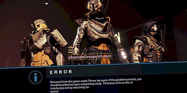 Oprava: Destiny Error Code Bee