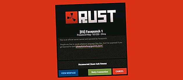 Sådan løses 'Steam Auth Timeout' -fejl i Rust