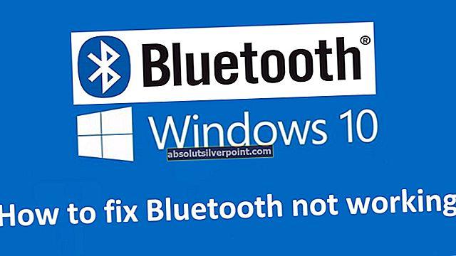Korjaus: Bluetooth ei voinut muodostaa yhteyttä Windows 10: ssä