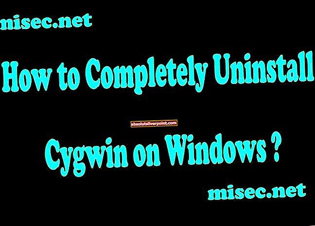 Sådan gør du: Afinstaller Cygwin på Windows