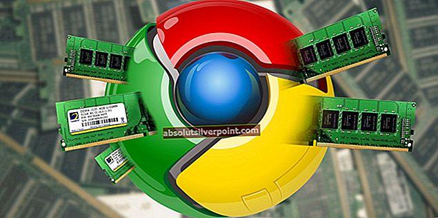 Korjaus: Google Chrome käyttää liikaa muistia